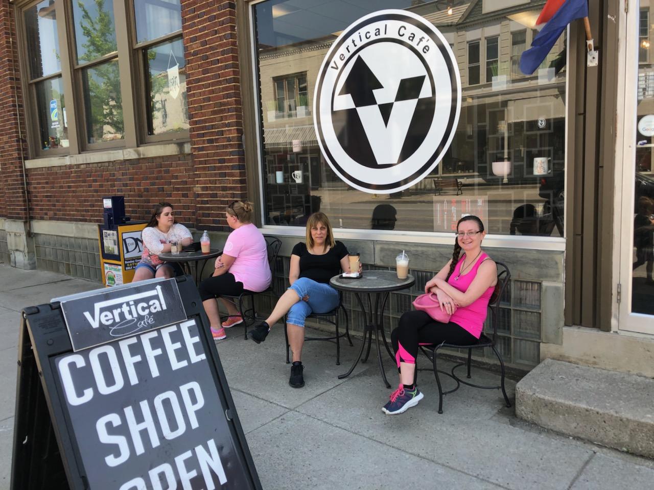 vertical cafe storefront