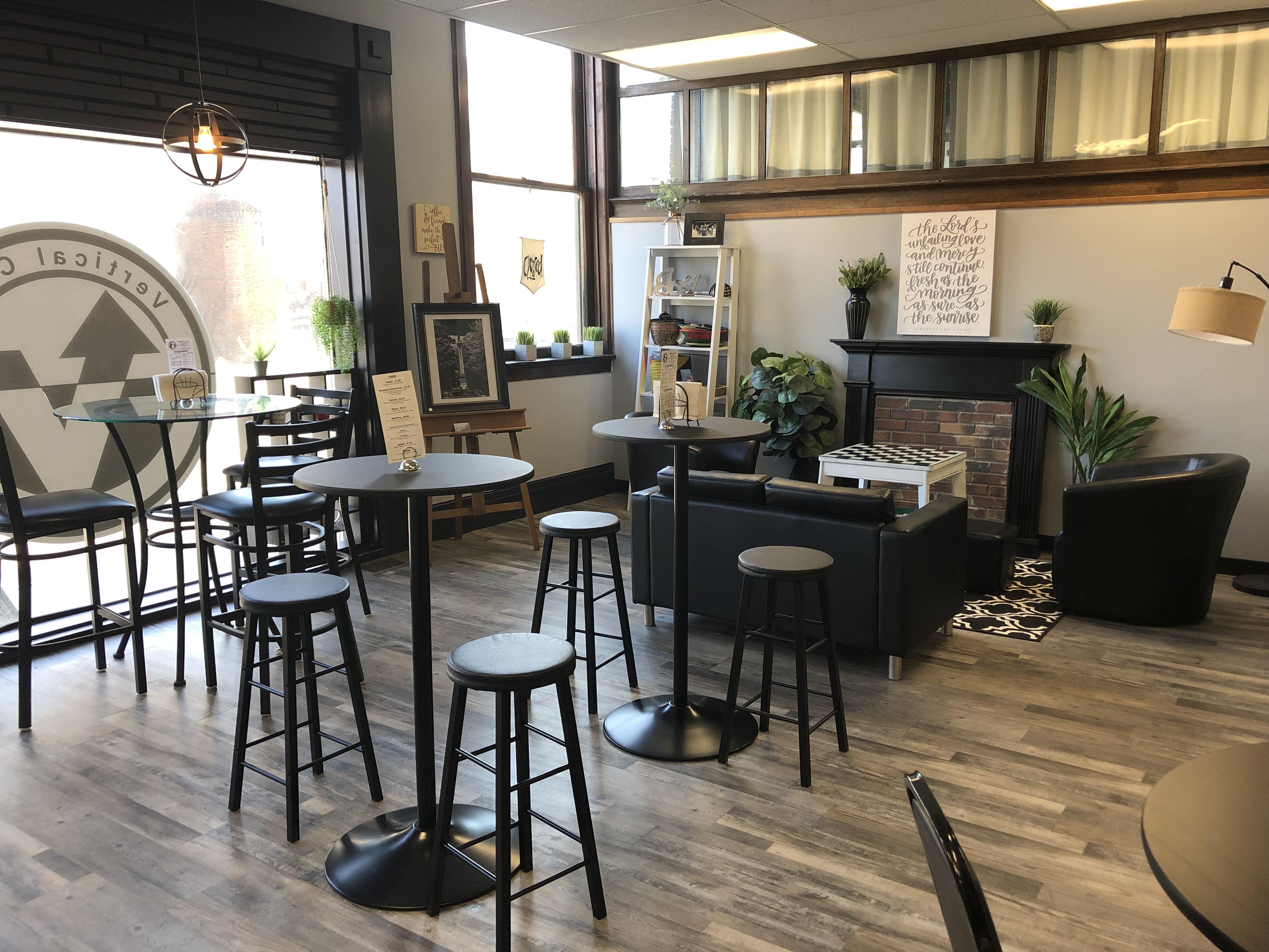 Inside Vertical Cafe Warsaw NY